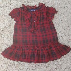 NWOT Blue label Ralph Lauren girls dress , 12M